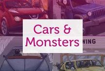 Car Monstrosities / What cars would pop culture's most famous monsters drive?