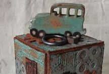 Art - Altered Blocks and Boxes / by Judy McKay