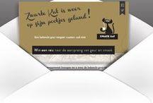 "email: ""Zwarte kat koffie"" / Branding direct email design."