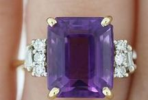 TIVOL | Amethyst / Amethyst, a violet variety of quartz, was favored by the Ancient Greeks and Romans because it was believed to protect its wearer from drunkenness! While the February gemstone may not guarantee sobriety, it is stunning. Until the 18th century, amethyst was considered a cardinal gemstone, along with diamonds and sapphires. Visit TIVOL.com to view jewelry fashioned from this purple gem, and check out this pin board for inspiration and styling ideas.