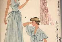 BEDTIME PATTERNS / patterns for nightgowns, pajamas, robes, & patterns I THINK would work great for this purpose ,new,old & otherwise