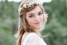 wedding hair / makeup / by Julia Marchand
