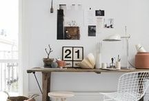 W O R K . S P A C E . / Creative, inspiring work spaces. Work from home. Home office.