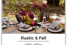 Rustic / Fall theme Table Setting / rustic fall theme table settings home decor fall colors