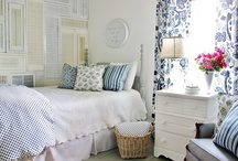 Dream House Bedrooms / Soft bedding, happy colors, goodnight. / by City Wife, Country Life