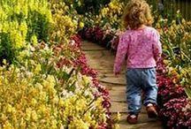 Family gardens / Inspiration for a lovely family garden space