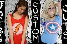 """Custom Cuts for Girls / 'Boyfriend tees with a twist' the new custom cuts are designed for women who want a comfortable """"boyfriend"""" t-shirt without the baggy boyfriend look. These tees feature original iconic pop culture/superhero designs with cleverly placed cuts by Kamisama! We sell all sorts of superhero t-shirts online for guys and girls visit us at www.jackofalltradesclothing.com  / by Jack of All Trades Clothing"""