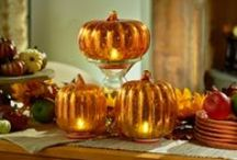 Pumpkin Patch / Big, little, tall or round everyone loves pumpkins! Here are my favorites. Some are made of Mercury Glass others of wax each one is just spectacular.