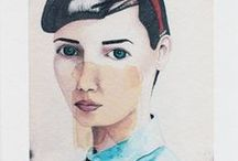 illustration + portraits / Illustrations, portraits (or people, animals, and characters), graphics, and embroidery.