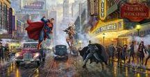 Thomas Kinkade Studios | DC Comics | World-Wide-Art.com / Thomas Kinkade Studios | DC Comics | World-Wide-Art.com
