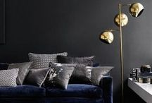Dark interiors. / Grey, black and other  shades that create drama. Because there's a certain beauty in the dark side of life.