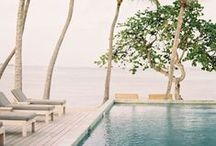 Swimming pools. / A tranquil place to swim and keep cool.