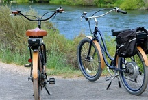 Trail Transportation / Anything you can ride on a trail is environmentally friendly and lots of fun. So enjoy these images of bikes, recumbents, Trikkes, inline skates, Street Striders, Elliptigos, electric bikes and more.