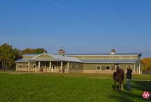 Equestrian/Horse Barns / Stylish and functional buildings that are durable and can withstand the demands of housing your equine companions. Features and options to keep your horses safe, living quarters to your horse barn, riding arenas or run-in shelters can all be seen here!