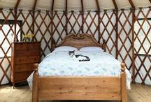 Yurts So Good / I love the idea of a yurt - they have been around forever, all over the world. They are nomadic or semi-permanent. Understated or opulent. Maybe one in the backyard?