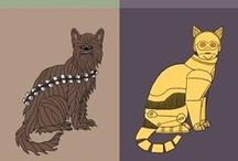 Star Trek/Wars / Star Trek and Star Wars are iconic. All the more fun to parody them. Some are shown here!