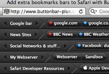 ButtonBar+ - Safari Extension / A Safari Extension for Mac & Windows that helps you organize your bookmarks by creating extra, highly customizable bookmark bars