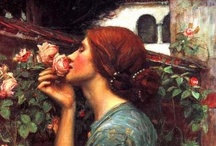 """Rossetti - Pre-Raphaelite / """"I have been here before,  But when or how I cannot tell:  I know the grass beyond the door,  The sweet keen smell,  The sighing sound, the lights around the shore.""""  / by Linda Borger"""
