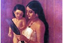 Raja Ravi Varma / His works are held to be among the best examples of the fusion of European techniques with a purely Indian sensibility. / by Linda Borger