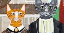 American Gothic / A somber classic turned this way and that, hilarious and clever results!
