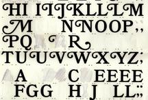 letters & type / by Zen Kanie