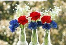 Red, White & Blue / Red, White & Blue: Everything Red ✩ White ✩ Blue ✩ Stars & Stripes Too! / by DIY BOARDS