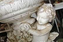 Urnspiration / I love chippy old urns, they have so much character!