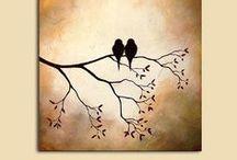 DIY Canvas Art / DIY Canvas Art: Canvas Art/Decor inspiration, ideas and tutorials on Pinterest.