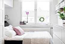 Small spaces / Decoration ideas for small spaces, small appartement or small houses. Bedroom, bed, living room, kitchen...