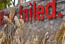"""Elefsina _ Cultural Festival AISXYLEIA 2013 / An art installation by Nikos Navridis entitled """"Try again. Fail again. Fail better"""" at the Old Oil Factory"""