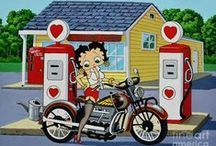 Betty Boop Biker Babe & Modes of Transportation / Have so many Betty Boop images I am putting them in categories. This one is for all of the Biker Betty & other vehicles Pics :-)