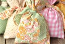 Fabric / Check out these creative uses for fabric / by Christina at I Gotta Create!