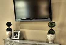 *TV Placement Ideas* / Ever struggle with where to locate the all-important TV without making it a giant eyesore in your freshly designed living space? Try these ideas on for size!