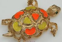 ❣️❣️  Turtles ❣️❣️ / #Vintage #Turtles on #jewelry, glass, pottery, and more
