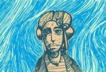 Monos / Ilustraciones personajes héroes minas armas naves monstruos alíenigenas