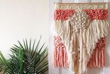 weaving / Weaving tapestry woven wall hanging  / by Maryanne Moodie