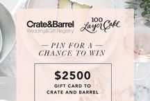 #CRATEWEDDINGx100LC / Crate & Barrel x 100 layer cake