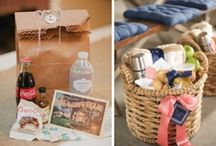 Weddings - Welcome bags/Favour bags/Beach Tote bags/Fabric baskets. / by Liza