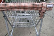 Shopping Cart Cover Great Gift & Ecofriendly / Want to protect your hands from what soot or germs are on the grocery store carts or department store carts?  These were made to do just that.  Two styles available with or without the handy coupon pocket.