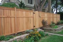 Wooden Fences / Enhance the beauty of your property with a red cedar fence by Dakota Unlimited. We are known for creating custom fences that become an integral part of every landscape design.