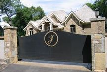 Driveway Gates /  Driveway gates give you the peace of mind you're looking for, but also enhance the beauty of your home.