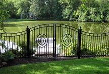 Wrought Iron & Ornamental Steel Fences / Pre-fabricated ornamental steel and aluminum fences, and in-house wrought iron fencing.