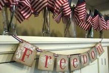 God Bless America / 4th of July celebration ideas, recipes, and decorations.