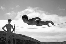 b&w | jumping & falling