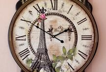 I hear the Clock ticking, but I never have the time / Calendars and clocks exist to measure time, but that signifies little because we all know that an hour can seem as eternity or pass in a flash, according to how we spend it. / by Karen Mack