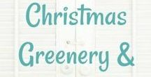 Christmas: Hanging O' the Green / Christmas wreaths, greenery, wall hangings, and other hanging decor ideas.