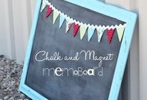 i NEED to make this...Chalkboards and Frames