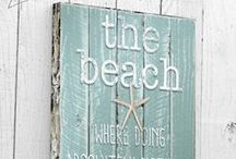 Meet me at the Beach... / Beach/Ocean-inspired crafts and decor.