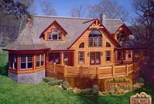 Dream Home Log Homes / Log Homes and Log Cabins are my IDEAL place to live! / by Leslie Brattin-Stinger