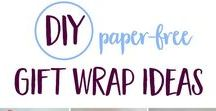 Eco Gift Wrap Ideas / Eco-friendly gift wrapping ideas for whenever you need them! | waste-free | paper-free | green living